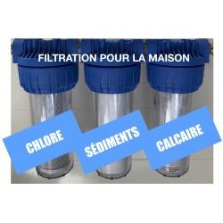 Triple filtre à eau CSC pour toute la maison