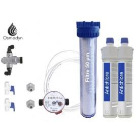 Antichlore et filtre 50 µm gros débit