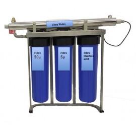 Centrale de filtration eau de pluie maison