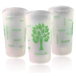 Gobelet réutilisable- verres écologiques