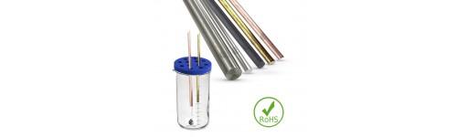 Tige baguette métaux certifiés pour eau électrovibrée, tout dynamiseur