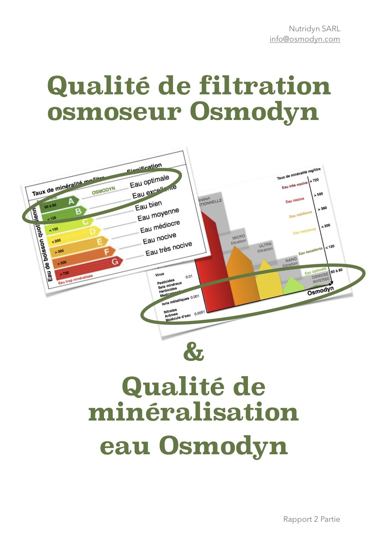 Osmodyn certification qualité