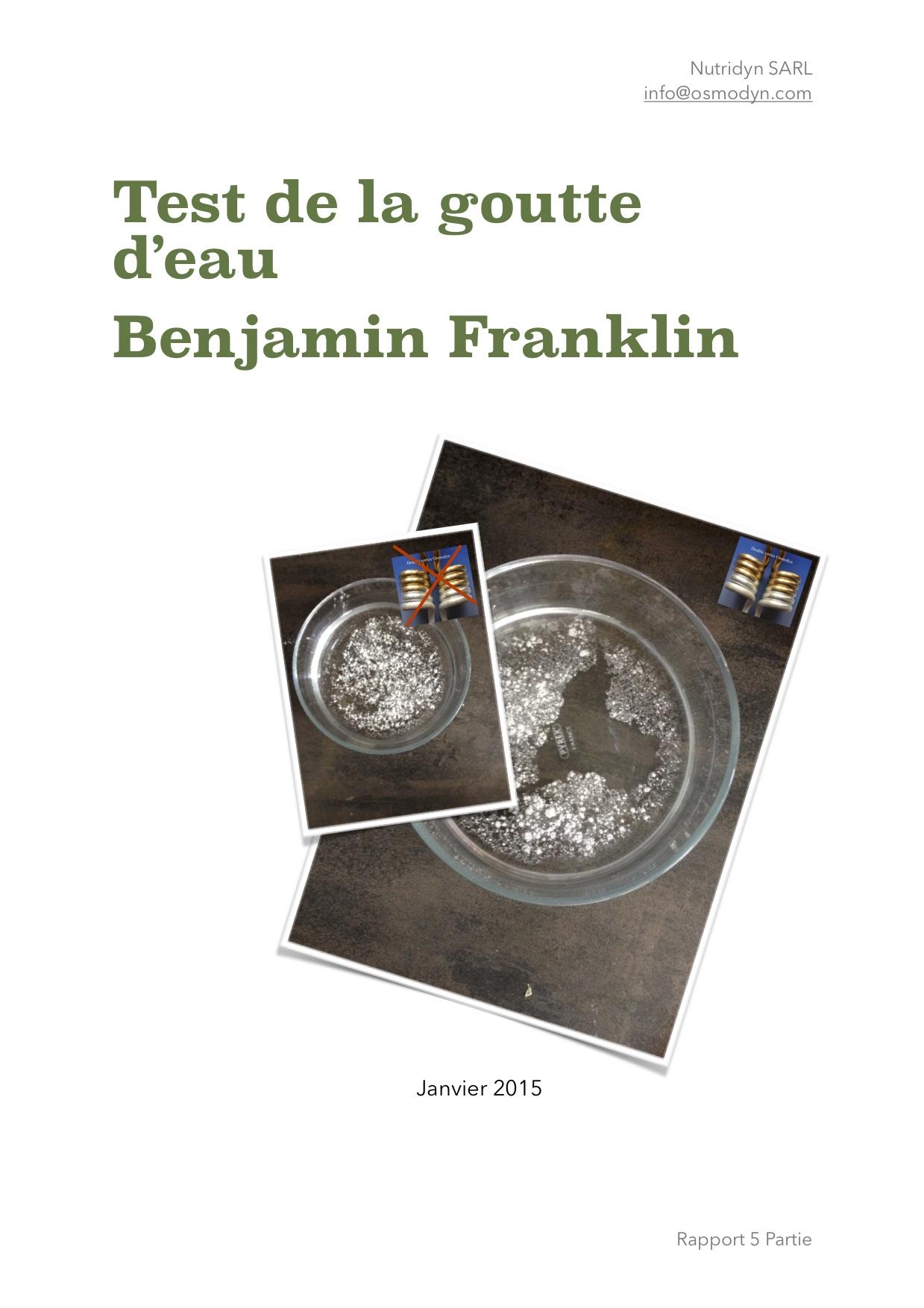 Osmodyn test B. Franklin