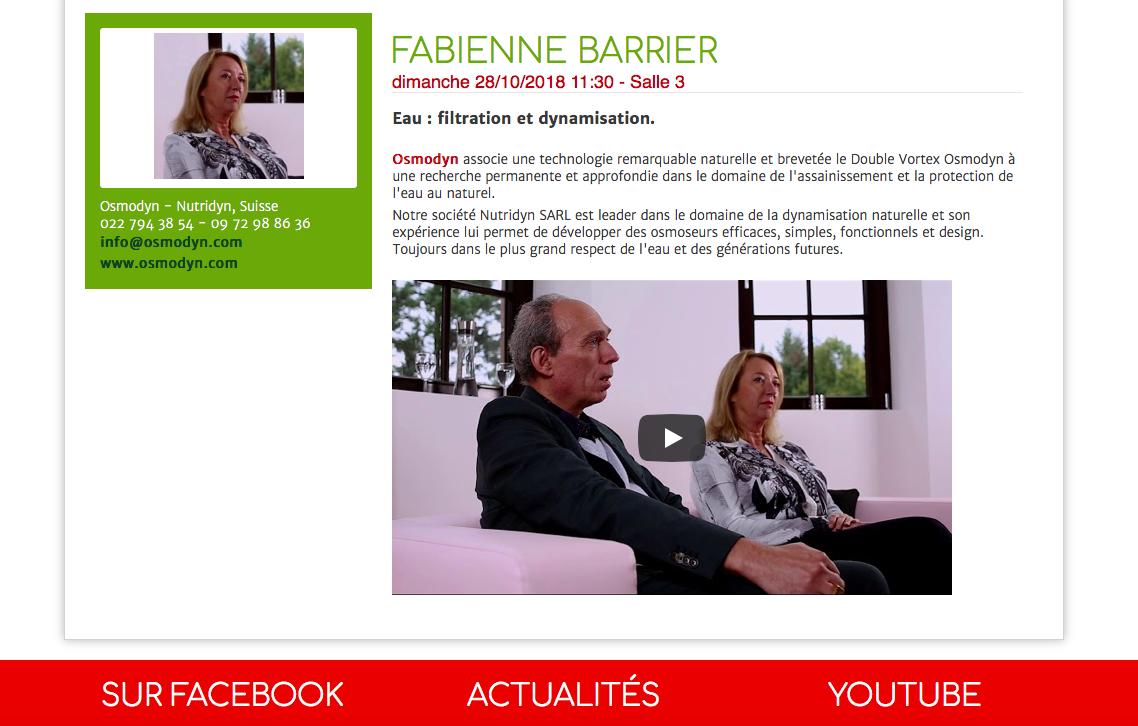 Conférence Fabienne Barrier