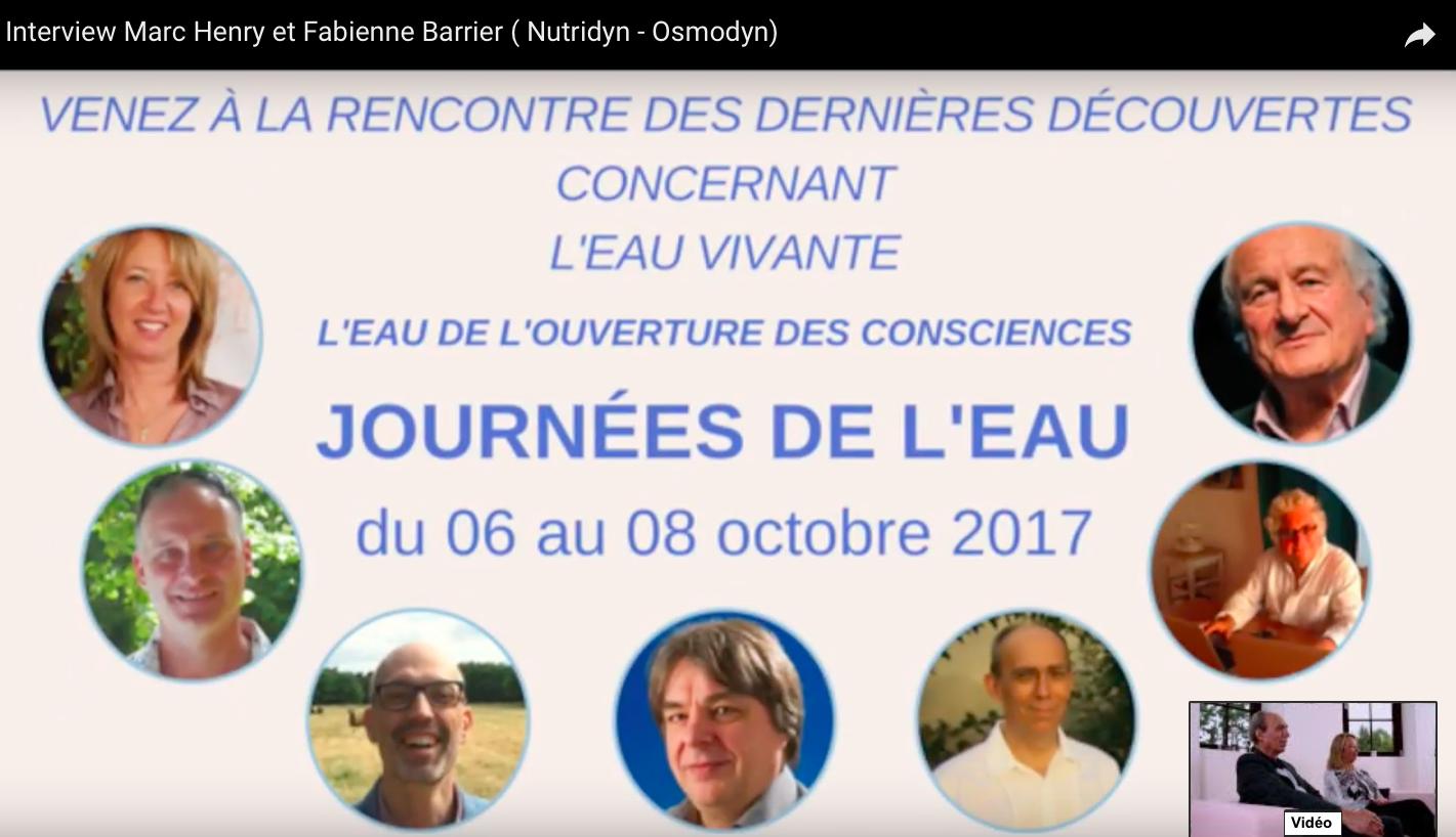 Conférence Osmodyn Les journées de L'eau St Hippolyte