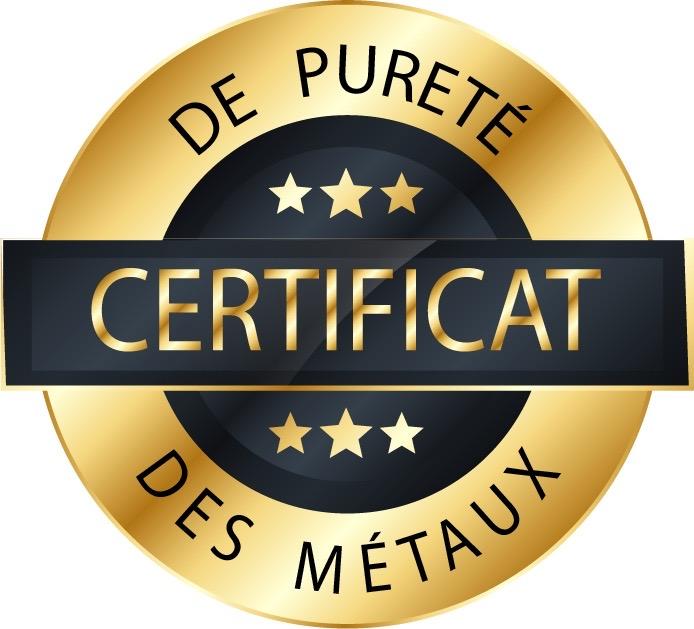 certificat de pureté des métaux